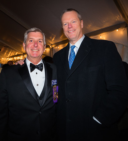 Robert Jolly, Jr (left) and Gov. Charlie Baker