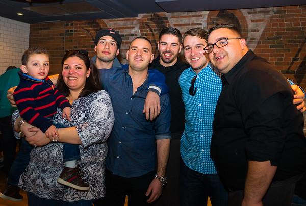 The Imbergamo Gang: (L-R) Dominic, Marlo, Steven, Matthew, Jeffrey, Michael and Marco