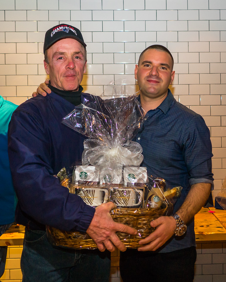 Raffle winner of a Starbucks basket