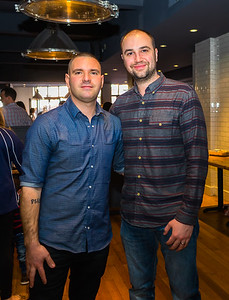 Host Matthew Imbergamo and Ward 8's Nicholas Frattaroli