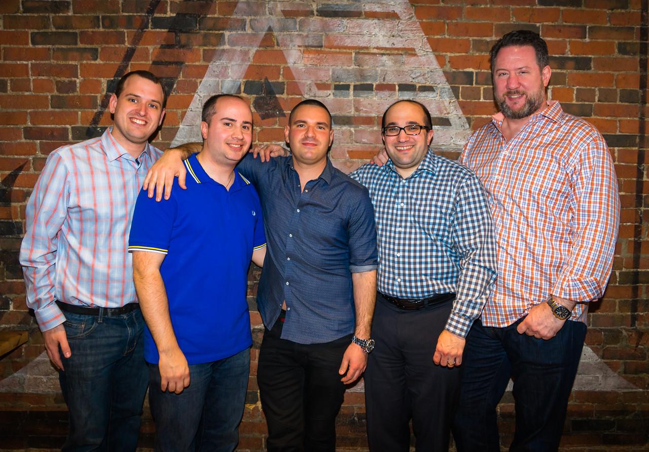 North End friends, from the left, Blake, Gennaro, Matthew I., Matthew B. and Jason