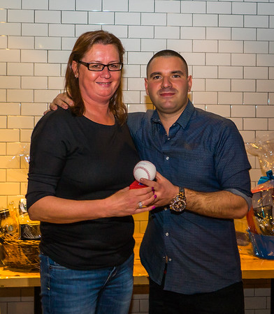 Maureen Kennedy wins signed Red Sox baseball in raffle