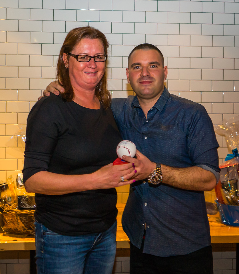 Maureen Kennedy wins signed Red Sox baseball in raffle