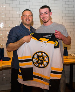 Signed Bruins shirt raffle winner