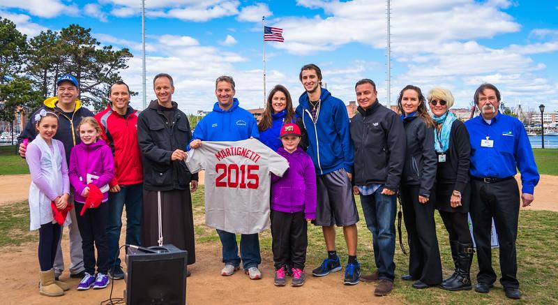NEAA Baseball Opening Ceremonies honored Ralph Martignetti, Sr.