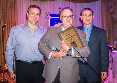 Sal LoPiccolo (center) accepts Member of the Year award from Kenny Palazzolo (left) and Louis Strazzullo