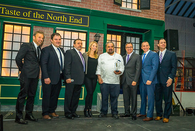 Filippo Frattaroli accepts award as Restaurantuer of the Year and TONE Founding Supporter