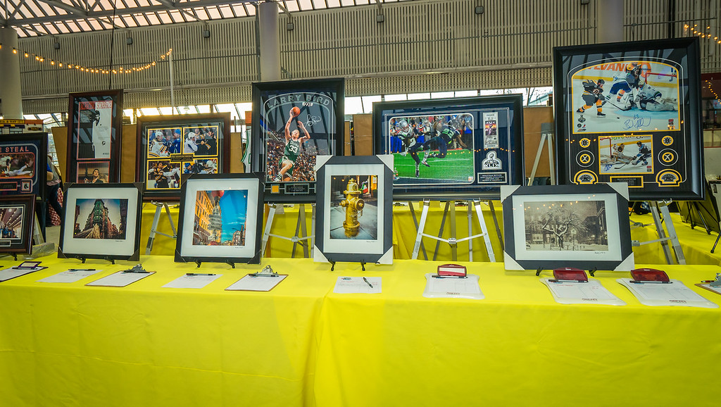 Silent auction items at 2015 TONE