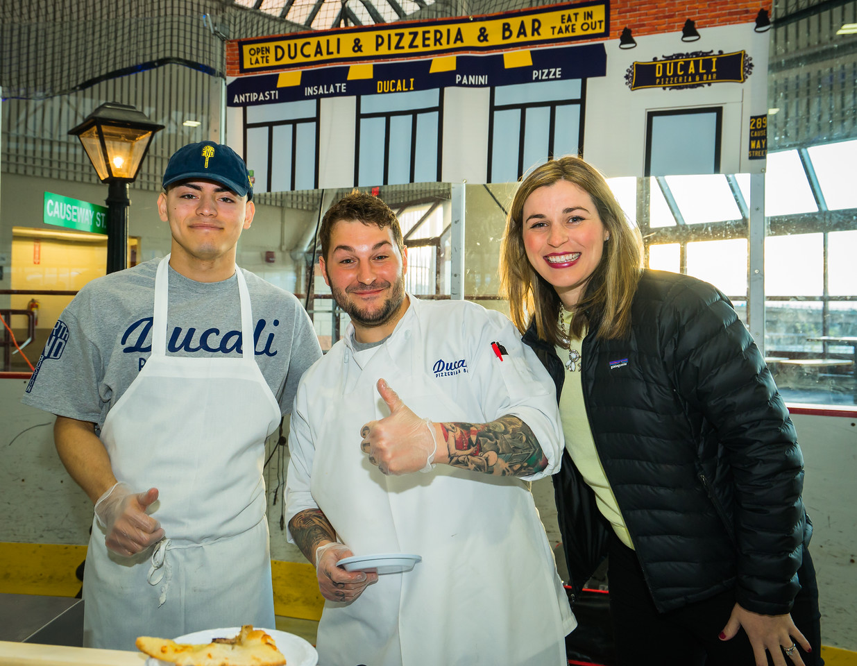 William, Anthony and Kelly from Ducali Pizzeria