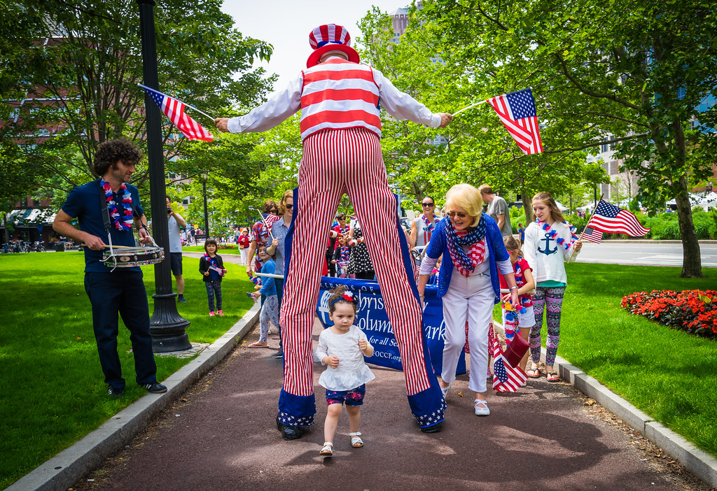 Through the legs of Uncle Sam
