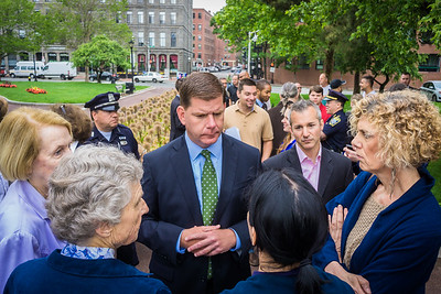 Mayor Walsh talks to North End / Waterfront residents at annual coffee hour
