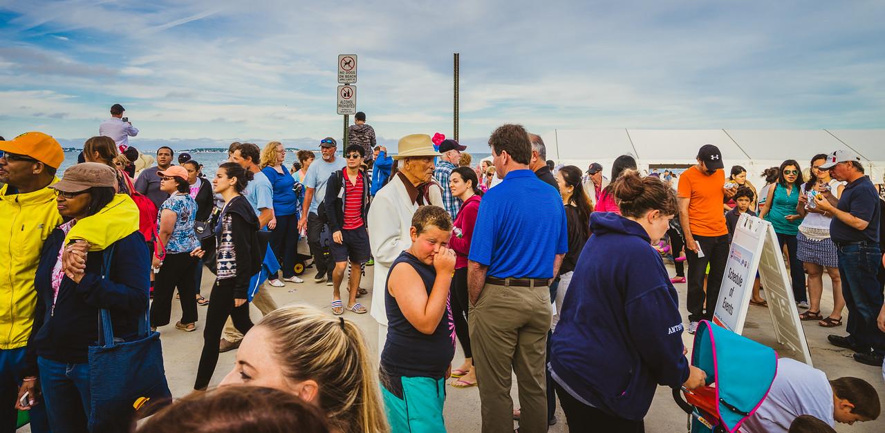 Boardwalk crowd at Revere Beach