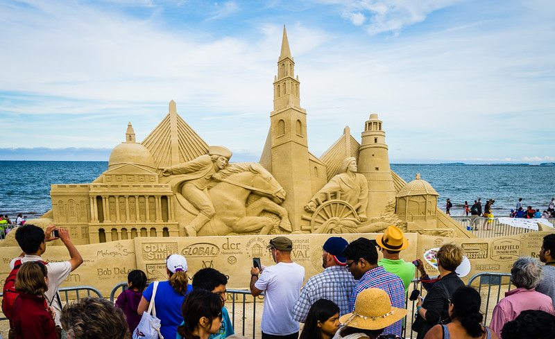 Crowds at the Revere Beach Sand Sculpting Festival