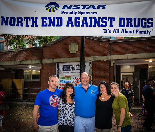 North End Against Drugs Board Members (L-R) Stephen Passacantilli, Kathy Carangelo, John Romano, Kathy D'Amico and Maria Puopolo
