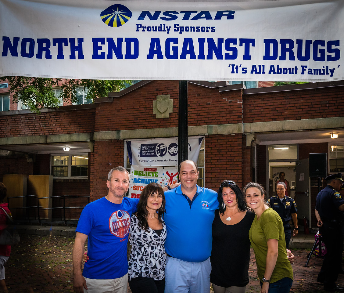 North End Against Drugs Board Members (L-R) Stephen Passacantilli, Kathy Carangelo, John Romano, Kathy D