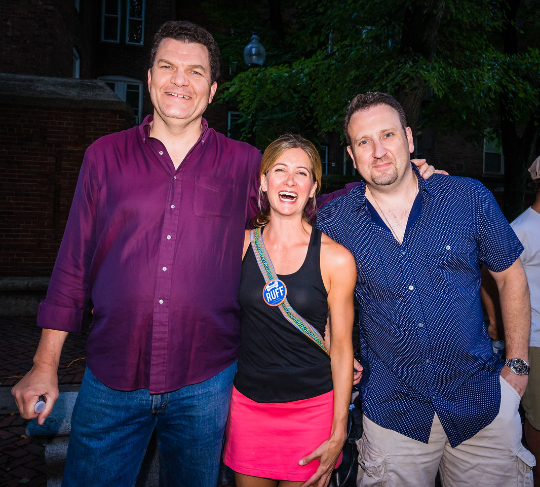 From RUFF, (L-R) Dave Goggins, Amy Hand and Dave Masciulli