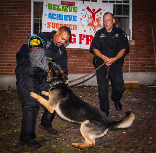 K-9 Unit Demonstration on the Prado at North End National Night Out