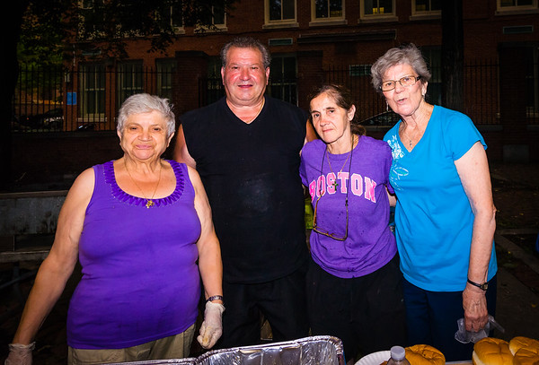 The workers feeding everyone at North End National Night Out