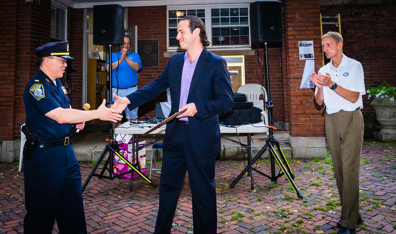 David Marx accepts Community Service Award