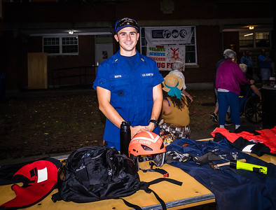 Billy Martin from the US Coast Guard Base Boston at North End National Night Out