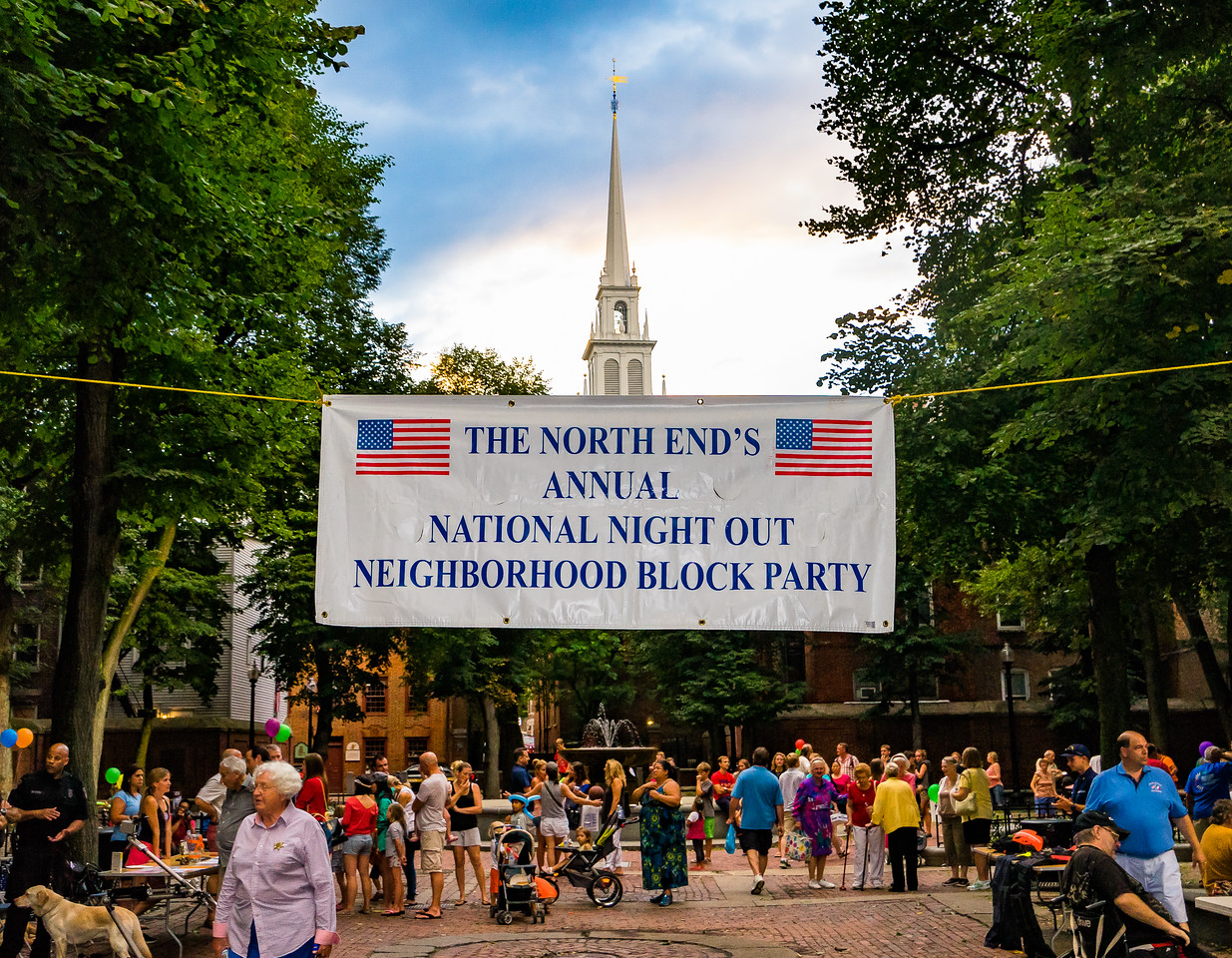 North End National Night Out on the Prado - Paul Revere Mall