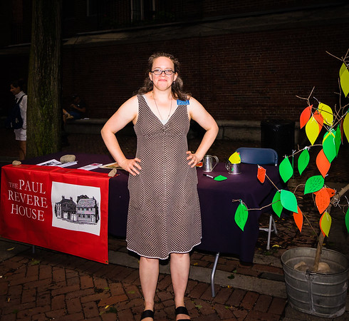 Kristin brings a big of the Paul Revere House to North End National Night Out