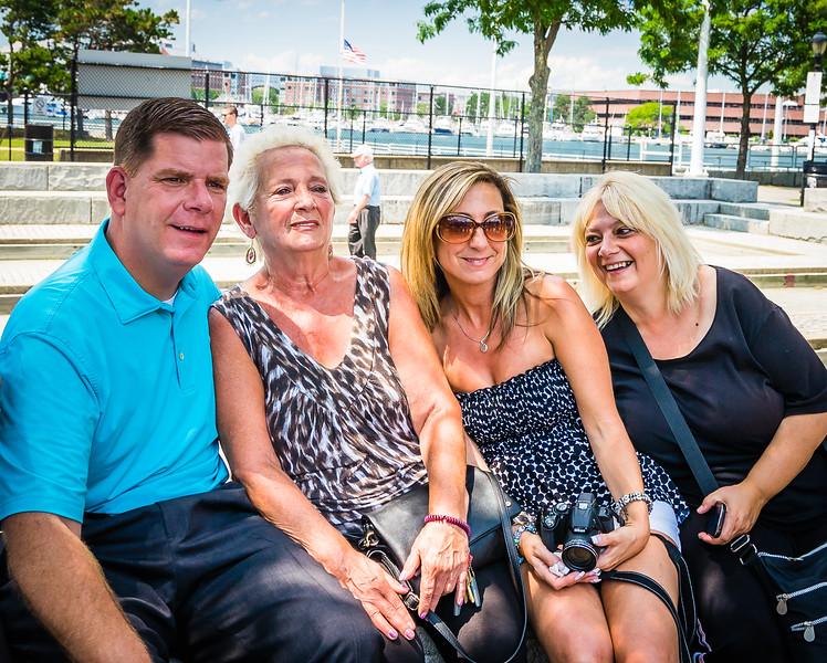 Mayor Walsh and Paolo Family