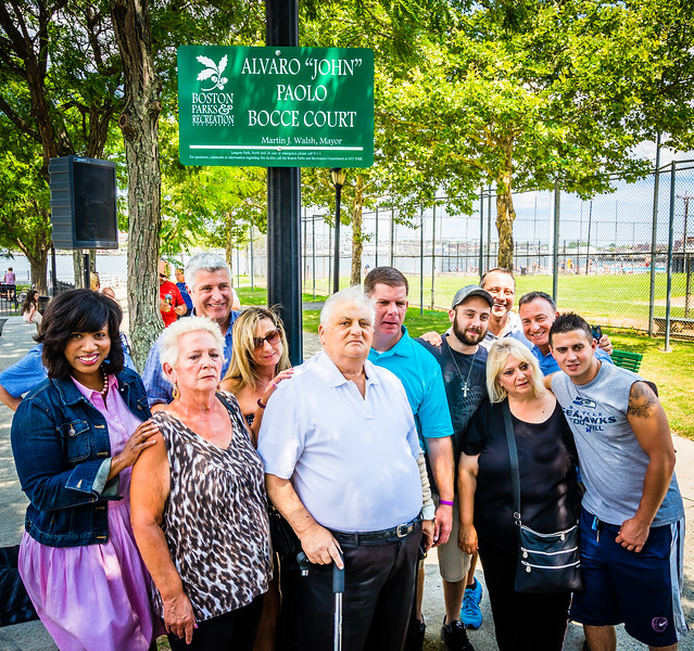 Family and local officials gather for dedication at Langone Park