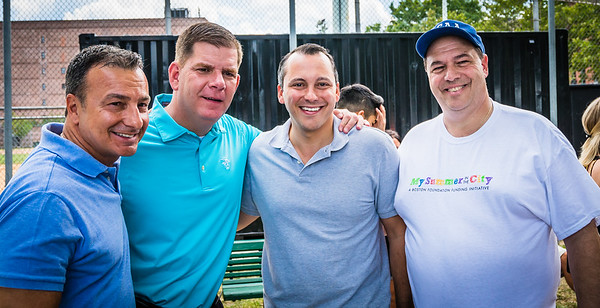 (L-R) Sal LaMattina, Marty Walsh, Aaron Michleiwitz and John Romano
