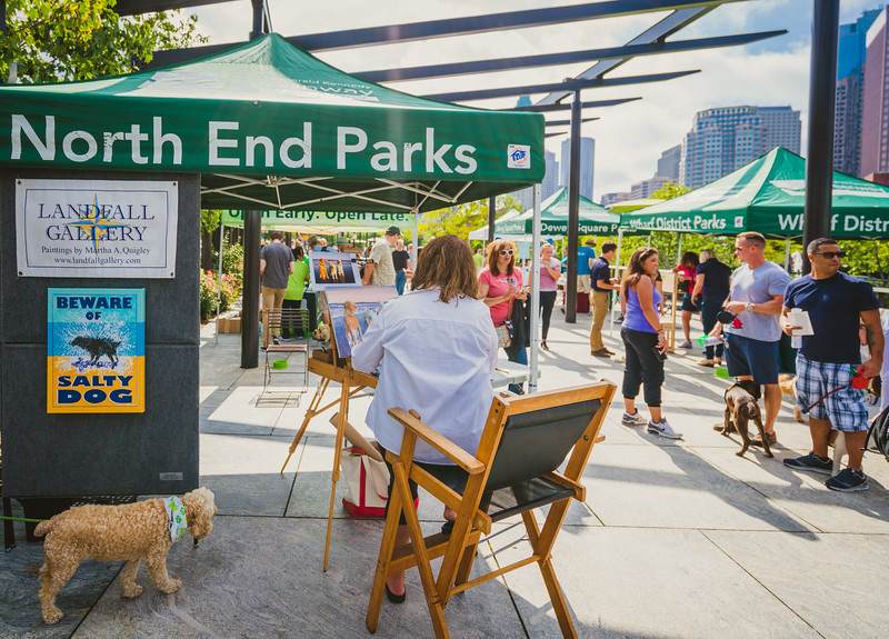 Painting dogs at the North End Parks