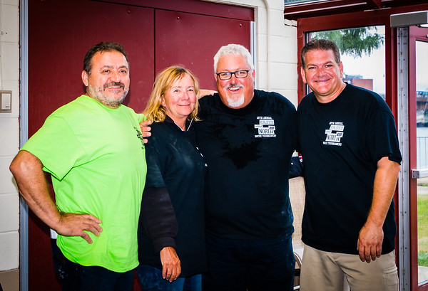TONE Founder Donato Frattaroli, Ann and Bob Lutz, President of the Mass. Restaurant Assoc. and Bocce Organizer Chris Zizza of C&R Flooring