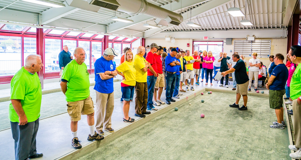 Chris Zizza gives a teach-in on the bocce rules