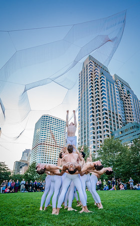 Boston Ballet performs under the Echelman Sculpture