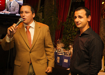 Host and State Rep. Aaron Michlewitz and Columbus Day Commitee Chair Louis Strazzullo