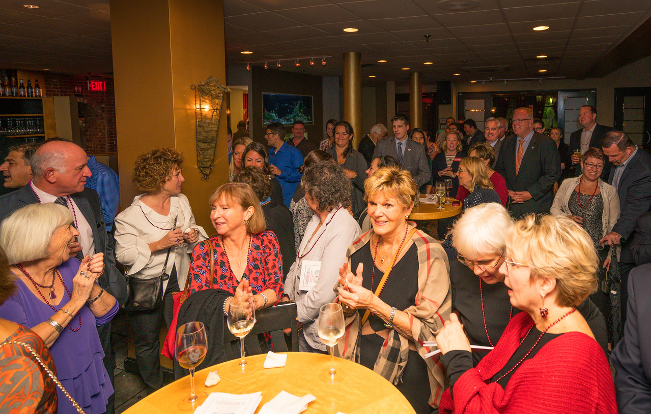 Crowded room at the Columbus Day Parade Fundraiser