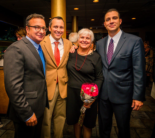 Celebrating Francine Gannon Day, (L-R) Sal LaMattina, Aaron Michlewitz and Anthony Petruccelli