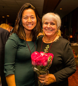 City Councilor Michelle Wu and Francine Gannon