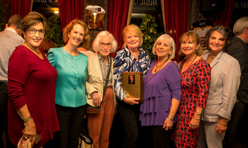 FOCCP Executives accepting the Michael A. Nazzaro, Jr. Community Leadership Award (L-R) Meredith Piscitelli, Meghan Denenburg, Joan Murphy, Joanne Hayes-Rines, Ann Babbit, Audrey Tortolani and Patricia Thibotout