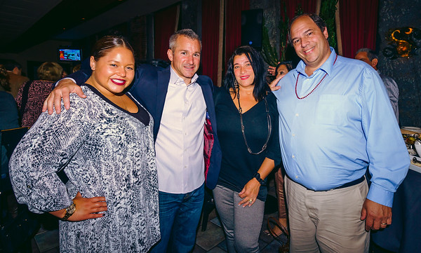 (L-R) Maria Lanza, Stephen Passacantilli, Karen D'Amico and John Romano