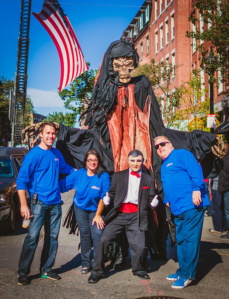 With Spooktacular and the Adams Family, (L-R) John Pregmon, Karen D'Amico and Michael Magnar