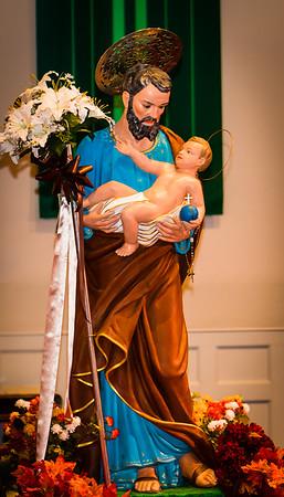 Boston Society Statue of Saint Joseph on display at the concert