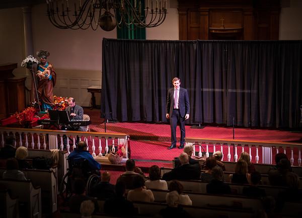 Elijah Blaisdell sings opera at Italy American Style concert