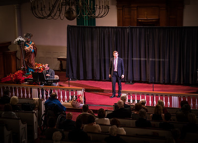 Elijah Blaisdell sings opera at Italy American Style concert