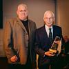 St. Joseph Society President Peter Bagarella presents Musical Achievement Award to Al Natale