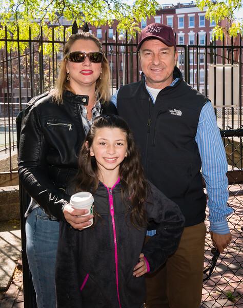 City Councilor Sal LaMattina with aide Lori Toscano and Juliana