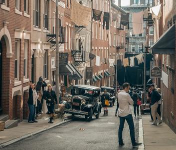 Neighborhood movie set