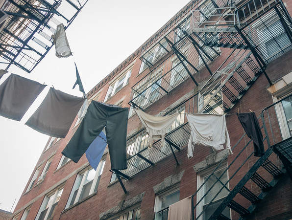 Laundry lines on Cleveland Place