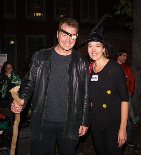 Doug and Sherri at the Halloween Party on the Prado