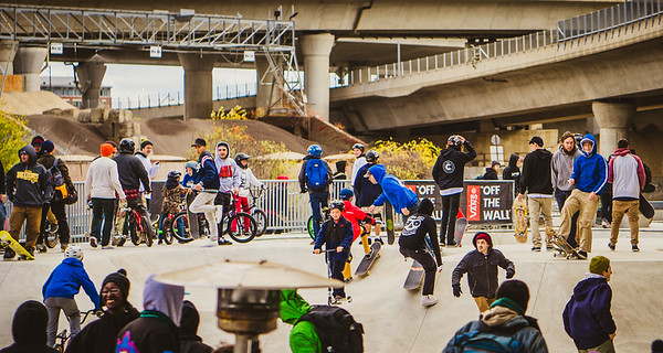 Skaters of all stripes came for skatepark opening