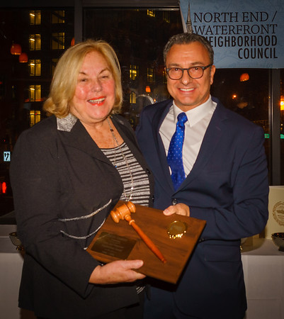 Former NEWNC President Joanne Prevost Anzalone is honored by City Councilor Sal LaMattina